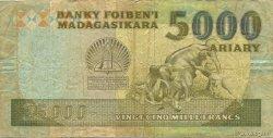 25000 Francs - 5000 Ariary MADAGASCAR  1988 P.74Ab B
