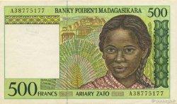 500 Francs - 100 Ariary MADAGASCAR  1994 P.75a SUP