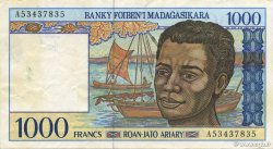 1000 Francs - 200 Ariary MADAGASCAR  1994 P.76a TTB