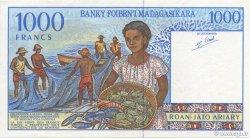 1000 Francs - 200 Ariary MADAGASCAR  1994 P.76b SUP à SPL