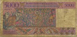 5000 Francs - 1000 Ariary MADAGASCAR  1994 P.78a TB