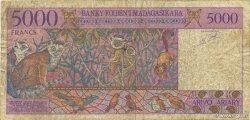 5000 Francs - 1000 Ariary MADAGASCAR  1994 P.78b pr.TB
