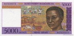 5000 Francs - 1000 Ariary MADAGASCAR  1994 P.78b SUP à SPL