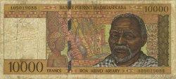 10000 Francs - 2000 Ariary MADAGASCAR  1994 P.79a B+