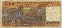 10000 Francs - 2000 Ariary MADAGASCAR  1994 P.79b B+