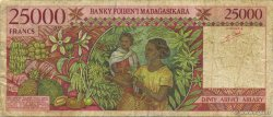 25000 Francs - 5000 Ariary MADAGASCAR  1998 P.82 B+