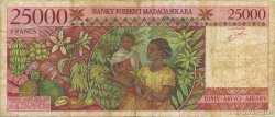 25000 Francs - 5000 Ariary MADAGASCAR  1998 P.82 TB