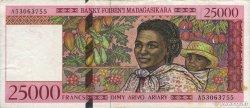 25000 Francs - 5000 Ariary MADAGASCAR  1998 P.82 TTB
