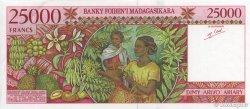 25000 Francs - 5000 Ariary MADAGASCAR  1998 P.82 SPL