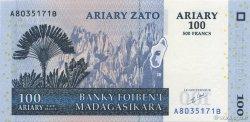 500 Francs - 100 Ariary MADAGASCAR  2004 P.86a NEUF