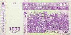 5000 Francs - 1000 Ariary MADAGASCAR  2004 P.89 NEUF