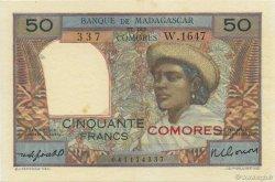 50 Francs COMORES  1960 P.02b SPL