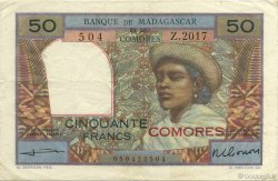 50 Francs COMORES  1960 P.02b TTB+