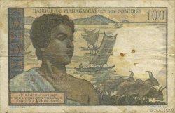 100 Francs COMORES  1960 P.03b B+