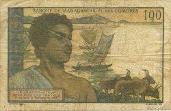 100 Francs COMORES  1960 P.03b TB
