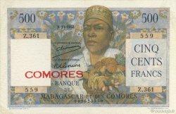 500 Francs COMORES  1952 P.04a SUP