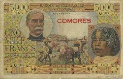 5000 Francs COMORES  1950 P.06a B
