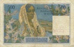 500 Francs COMORES  1963 P.04b TB