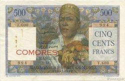 500 Francs COMORES  1963 P.04b pr.SUP