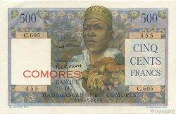 500 Francs COMORES  1963 P.04b SPL+