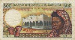 500 Francs COMORES  1976 P.07a TB+