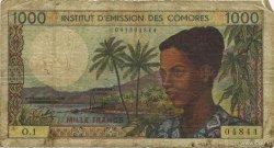 1000 Francs COMORES  1976 P.08a B