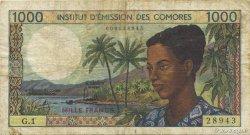 1000 Francs COMORES  1976 P.08a TB