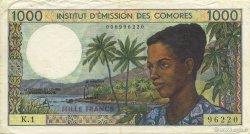 1000 Francs COMORES  1976 P.08a TTB+