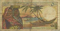 500 Francs COMORES  1986 P.10a B+