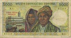 5000 Francs COMORES  1984 P.12a TB