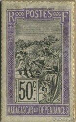 50 Centimes Chien MADAGASCAR  1916 P.11A pr.NEUF