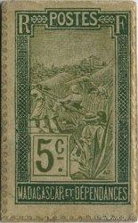 5 Centimes Chien MADAGASCAR  1916 P.09 SPL