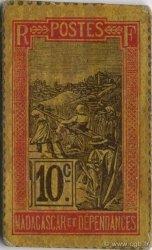 10 Centimes MADAGASCAR  1916 P.29 SPL