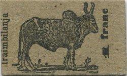 1 Franc Zébu MADAGASCAR  1916 K.871 pr.NEUF