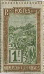 1 Franc Zébu MADAGASCAR  1916 P.20 pr.NEUF