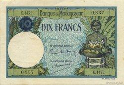 10 Francs MADAGASCAR  1957 P.36 TTB