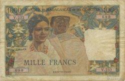 1000 Francs MADAGASCAR  1951 P.48a TB+