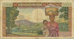 5000 Francs - 1000 Ariary MADAGASCAR  1966 P.60a B+