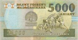 25000 Francs - 5000 Ariary MADAGASCAR  1988 P.74Ab SUP+