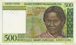 500 Francs - 100 Ariary MADAGASCAR  1994 P.75b SUP