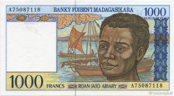1000 Francs - 200 Ariary MADAGASCAR  1994 P.76b SPL