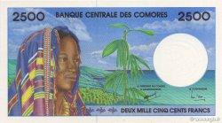 2500 Francs COMORES  1997 P.13s NEUF