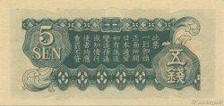 5 Sen CHINE  1939 P.M09a NEUF