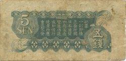 5 Sen CHINE  1939 P.M10 TB