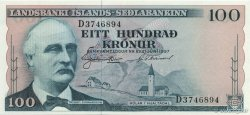 100 Kronur ISLANDE  1957 P.40a NEUF