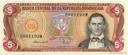5 Pesos Oro RÉPUBLIQUE DOMINICAINE  1988 P.118c pr.NEUF