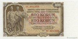 100 Korun TCHÉCOSLOVAQUIE  1953 P.086b NEUF