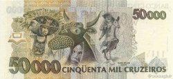 50 Cruzeiros Reais sur 50000 Cruzeiros BRÉSIL  1993 P.237 NEUF