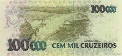 100 Cruzeiros Reais sur 100000 Cruzeiros BRÉSIL  1993 P.238 NEUF