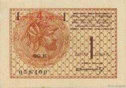 4 Kronen sur 1 Dinar YOUGOSLAVIE  1919 P.015 pr.NEUF